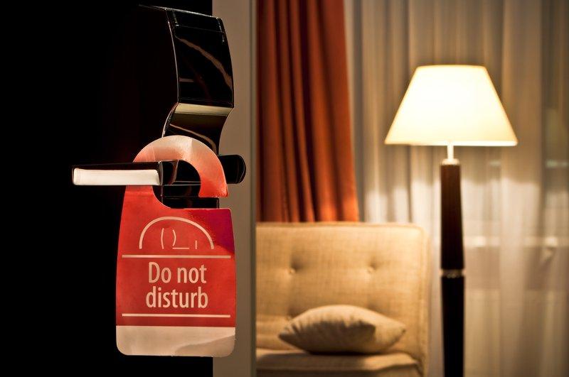Hotel do not disturb sign