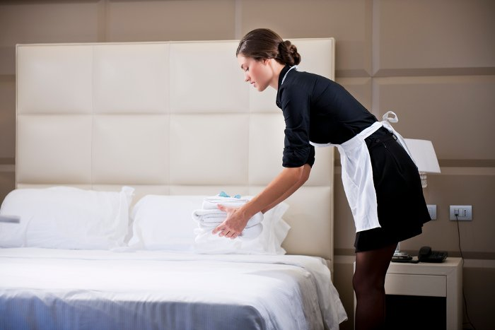 Maid in a Hampshire hotel